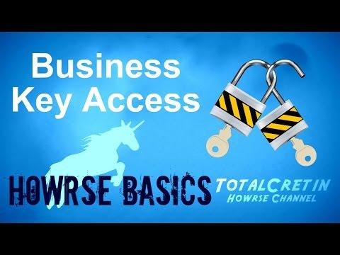 Business Key Access - Howrse Basics