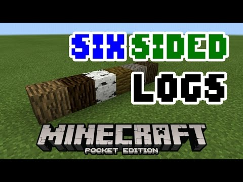 How to get six sided logs in MCPE! - No Mods or Add-ons!