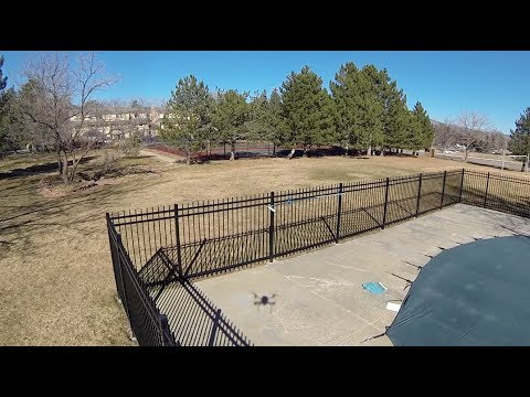 Quad with Tarot 2D Brushless Gimbal and GoPro Hero 3 over Boulder, Colorado