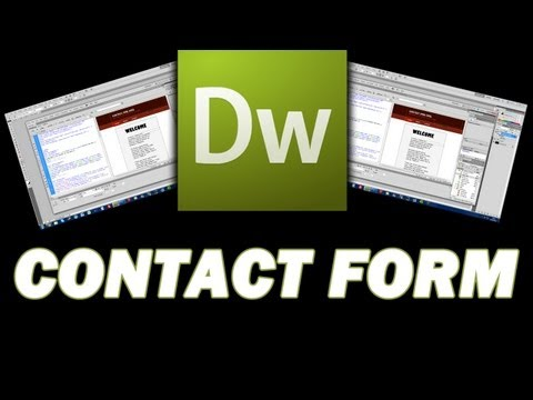 How to create a contact form in Dreamweaver CS5