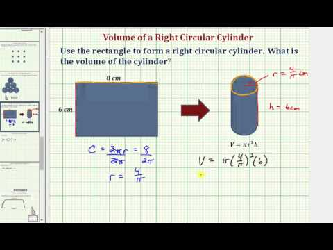 Find the Volume of a Right Circular Cylinder Formed from a Given Rectangle