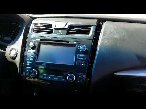 How to Remove Radio / Navigation / Display from Nissan Altima 2014 for Repair.