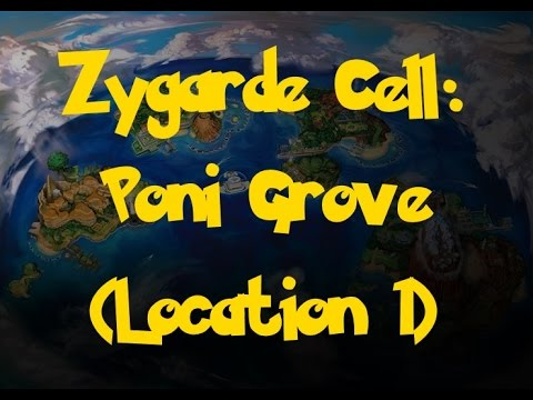 Zygarde Cell Location: Poni Grove (Location 1) (Pokemon Sun/Moon)