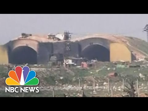 'U.S. Missile Attack' Video Aired On Syrian TV | NBC News