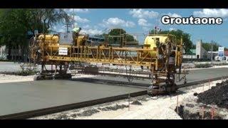 Highway Concrete Machines At Work