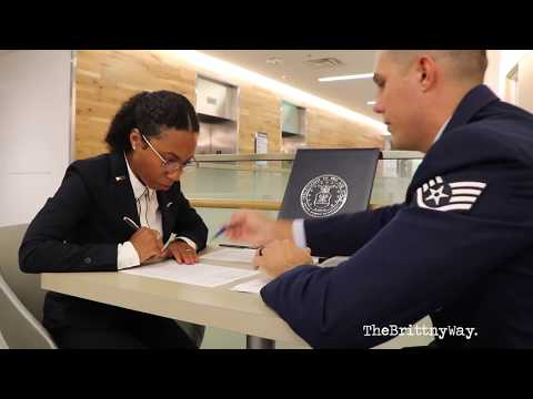 Medical School Vlog | U.S. Air Force Officer Commissioning + Signing HPSP Scholarship Contract