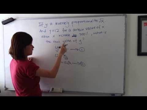 How to solve inversely proportional questions