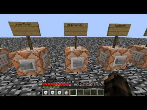 All Minecraft 1.7/1.8 Positive Effects | Command Blocks