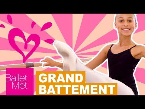GRAND BATTEMENT BALLET TUTORIAL 💗 JUSTICE