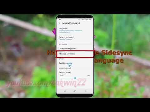 Android Nougat : How to Change Sidesync keyboard Language in Samsung Galaxy S8 or S8+