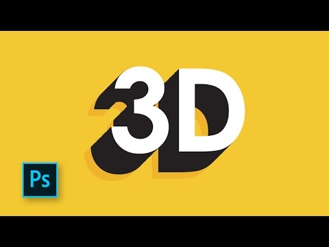 How to make 3d text in photoshop for beginners - Photoshop vector tutorials