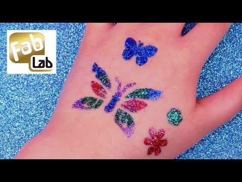 DIY Temporary Glitter Tattoos Tutorial ✨ How to do Fab Lab Glitter Tattoos