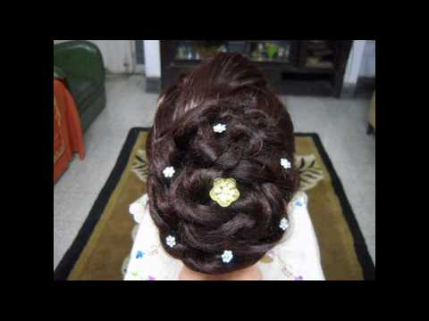 Snow Ball - A Flower Bun Hairstyle.