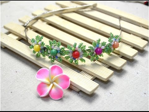 How to Make Flower Hair Band with Seed Beads