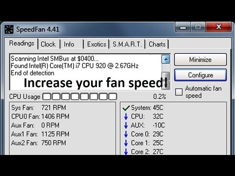 How to Increase CPU fan speed on Windows 7/8/10