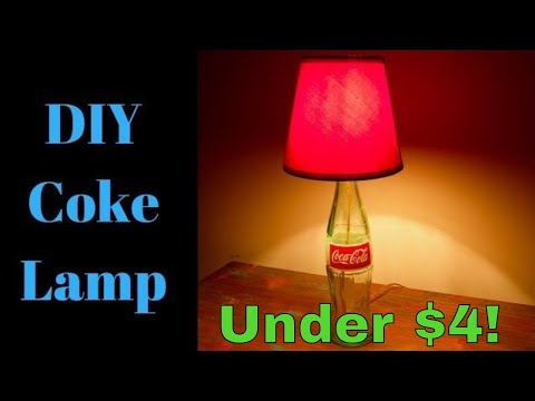 DIY glass Coke bottle lamp. How to make a DIY Coke bottle lamp. Easy DIY glass coke bottle lamp