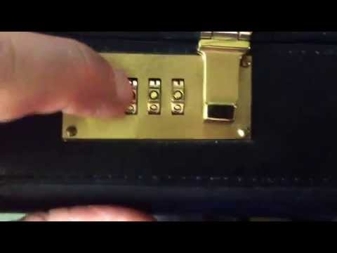 Changing a briefcase combination lock.