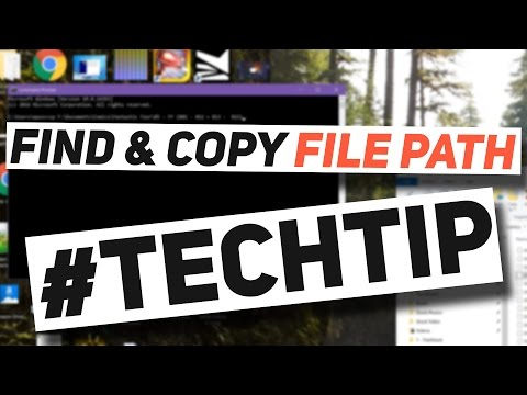 Easily find & copy any file's path from Windows Explorer - #TechTip Windows 10 Tip