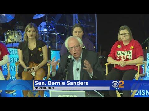 US Sen. Bernie Sanders To Disneyland: 'We've Got Families Struggling'
