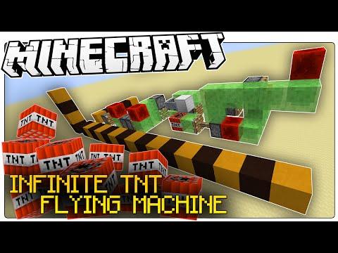 Minecraft | INFINITE TNT GLITCH | Flying TNT Bomber | Survival Friendly (Minecraft Redstone)