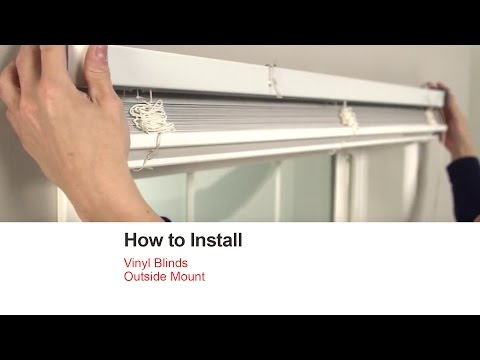 Bali Blinds | How to Install Vinyl Blinds - Outside Mount