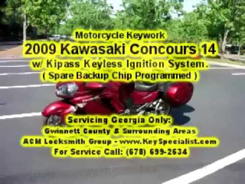 2009 Kawasaki Concours 14 GTR1400  - Spare Emergency Chip Programmed for lost key situations!