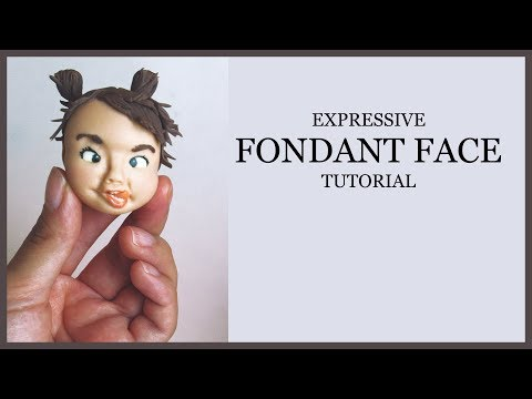 Expressive Fondant Face Tutorial: Modeling/Making,Painting,Adding Hair-Ponytails (Tongue Sticks Out)