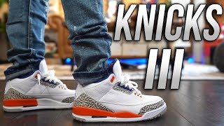 COP OR NOT ? AIR JORDAN III 3 KNICKS RIVALS REVIEW AND ON FOOT IN 4K !!!