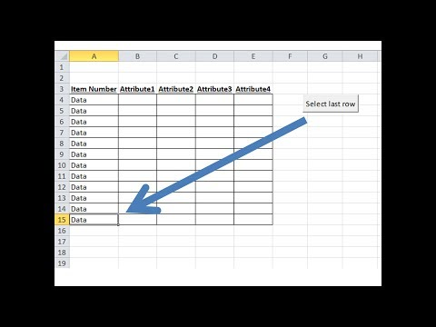 Find last cell with data macro tutorial - Excel