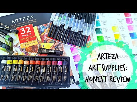 Arteza Review: Swatching Real Brush Pens & Gouache Set