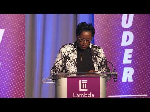 Tracey Guyot-Wallace at Lambda Legal's 2018 National Liberty Awards