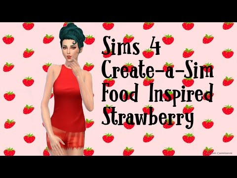 Sims 4: Create-a-Sim | Food Inspired Collab | Strawberry