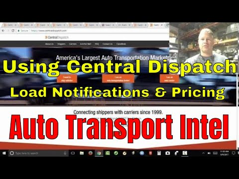 How To Use Central Dispatch Load Board Notifications Cost, Car Hauling