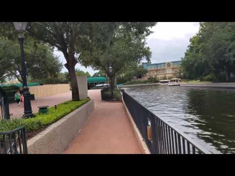 Epcot Gondola Station Construction Site at Walt Disney World.  A 3 O'CLOCK PARADE NEWS EXCLUUUUUSIVE