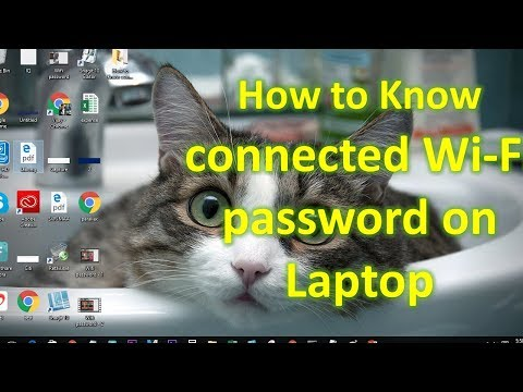 How to Know connected WiFi password on Office Laptop