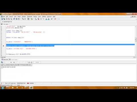 Date Time Handiling Using To_Date and To_Char (Oracle)