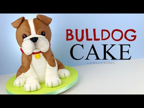 How to Make a 3D Bulldog Cake - Laura Loukaides