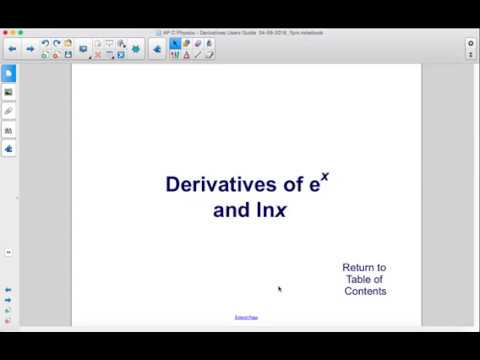 AP Physics C Calculus Derivatives Derivatives of e^x and lnx
