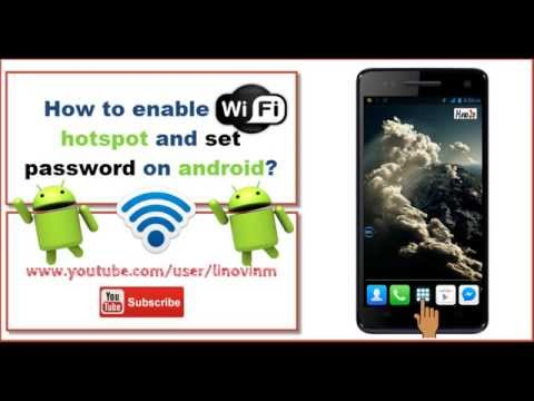 How to enable wifi hotspot and set password on android? (in 43 sec)