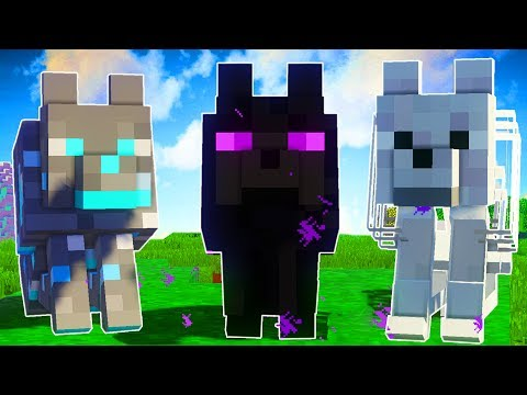 CRAZY NEW MINECRAFT WOLVES? | Minecraft Mods (More Wolves Mod)