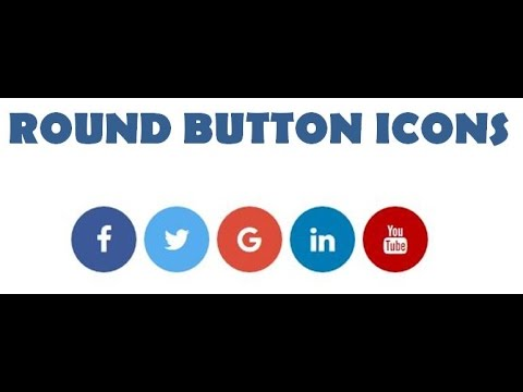 How to add Social Media Icons to website HTML -  Round Button social media Icons