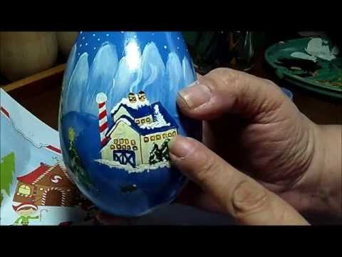 Part 5 of 5 - Primitive Painting Eggs with Country Scenes