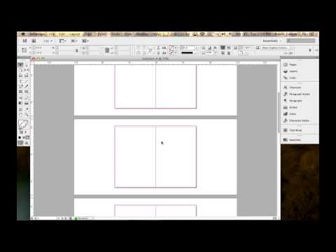 Setting up a booklet in InDesign