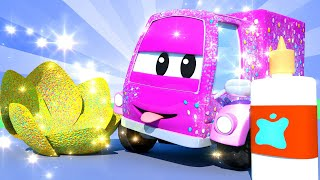 El lavado de Autos de Tom -  Suzy el Carrito Rosa - Dibujos animados de carros