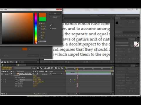 TUTORIAL   Highlighting Text in After Effects