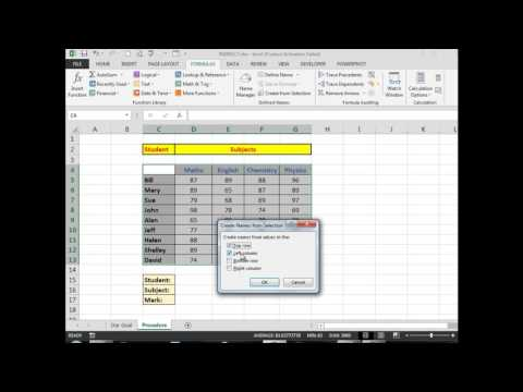 Advanced Excel How to use the INDIRECT function to find column and row intersections