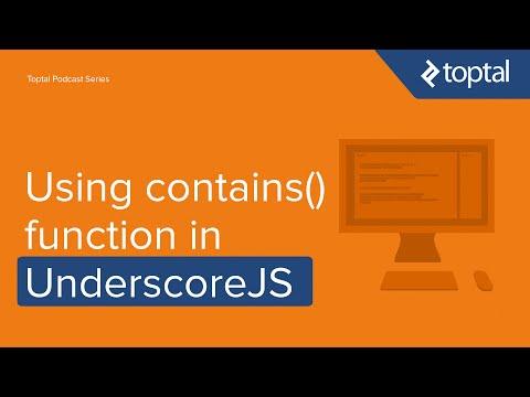 JavaScript Video Tutorial - Using contains() function in UnderscoreJS