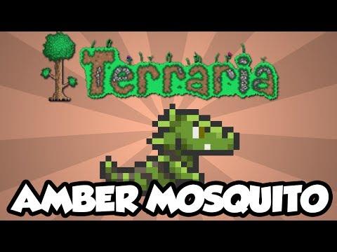 Terraria 1.2 - Amber Mosquito  - Cool Pet Dinosaur! (New Terraria 1.2 Items)