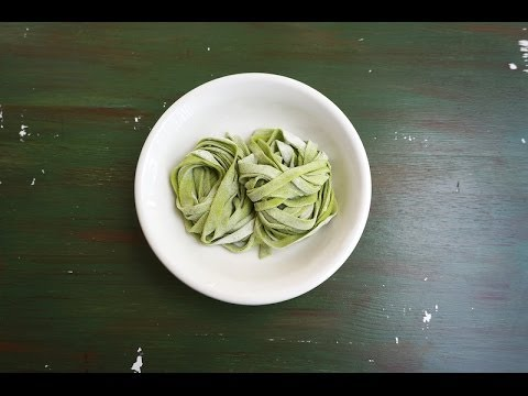 How To Make Fresh Kale Pasta/Noodles (without pasta machine)