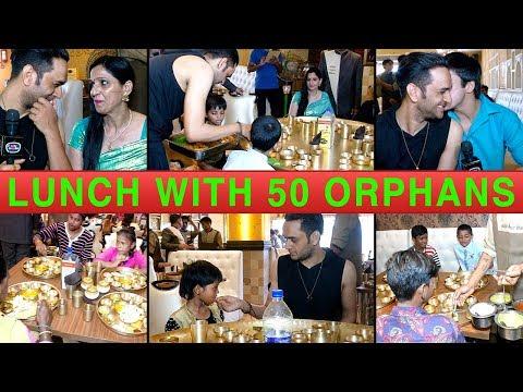 Vikas Gupta & His Mother Have Lunch With 50 Orphan Kids At Maharaja Bhog | Anshuman Malhotra